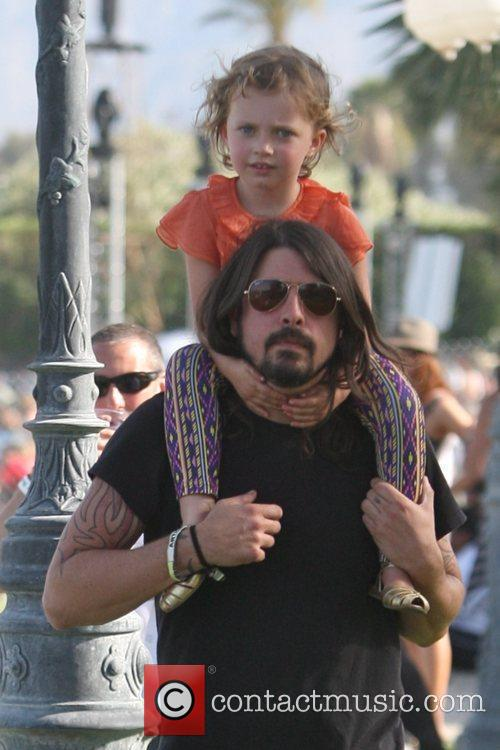 Dave Grohl, with daughter Violet Maye Grohl, on...