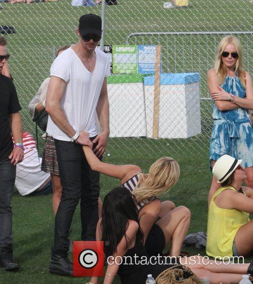 Alexander Skarsgard with girlfriend Kate Bosworth (right) at...