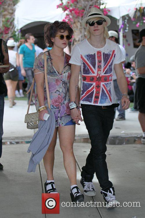 Kelly Osbourne and boyfriend Luke Worrall at the...