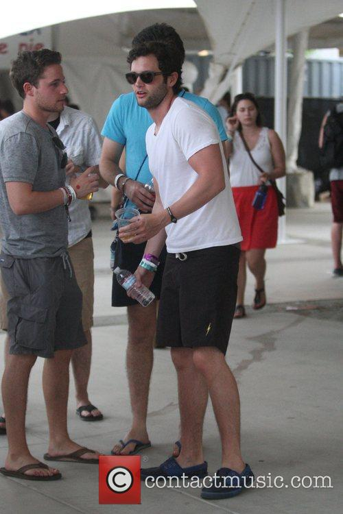 Penn Badgley at the Coachella Music Festival 2010...