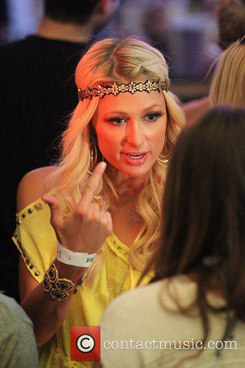Paris Hilton at the Coachella Music Festival 2010...