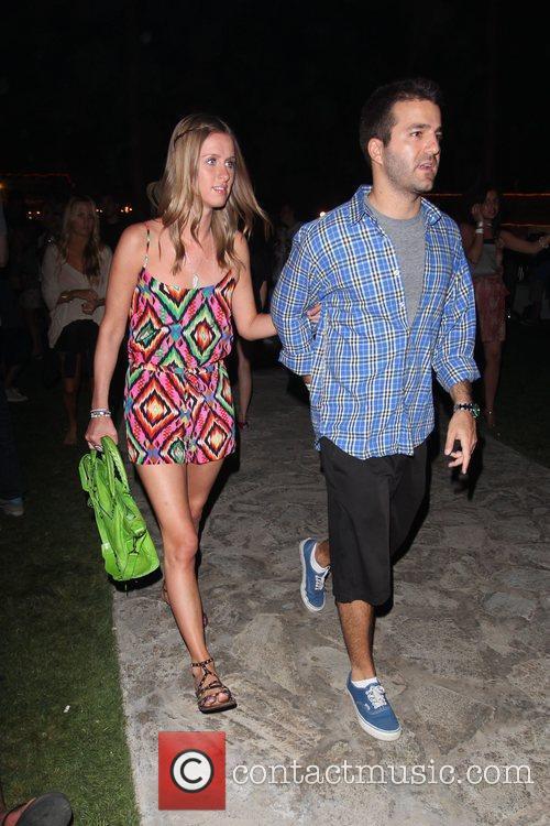 Nikki Hilton and David Katzenberg at the Coachella...
