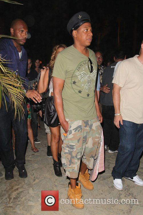 Rapper Jay-Z at the Coachella Music Festival 2010...