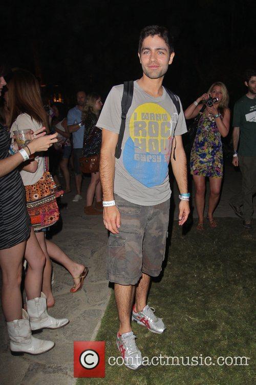 Adrian Grenier at the Coachella Music Festival 2010...
