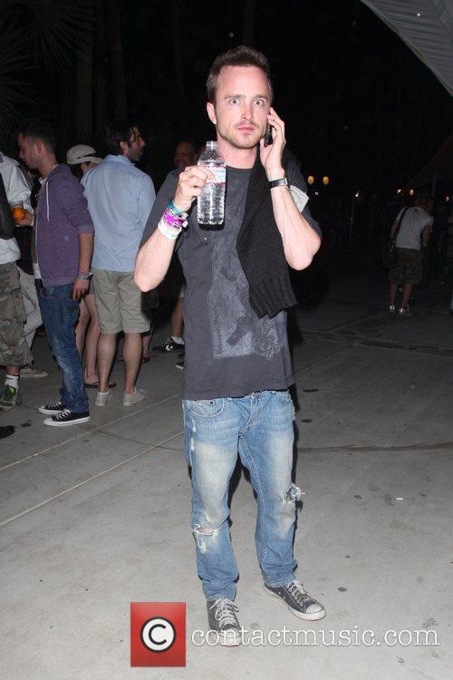 Aaron Paul at the Coachella Music Festival 2010...