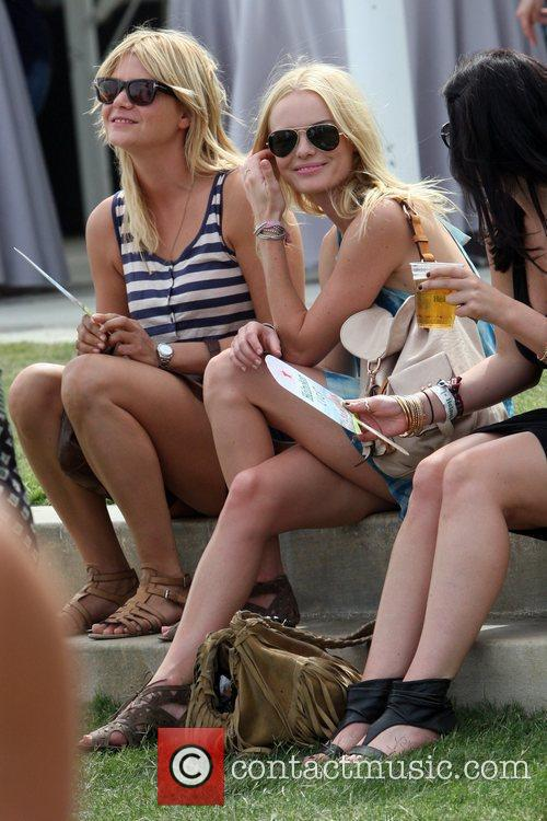 Kate Bosworth sitting with friends at the 2010...