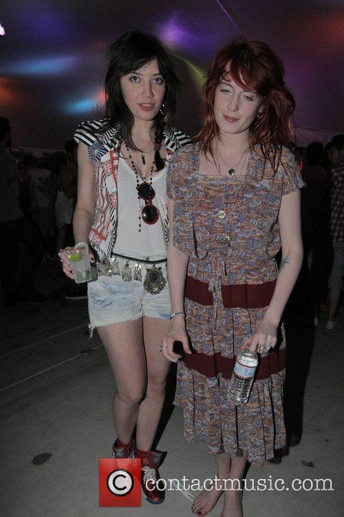 Model Daisy Lowe with Florence Welch of Florence...