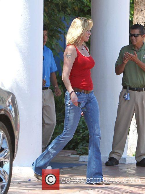 Melanie Griffith arriving at the 2010 Coachella Valley...