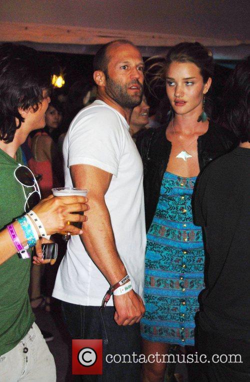 Jason Statham and Rosie Huntington-Whiteley at the 2010...