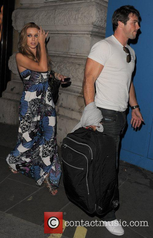 Una Healy of The Saturdays leaving Cocoon restaurant...