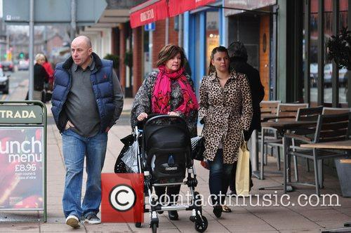 Coleen Rooney shopping with her parents Colette and...