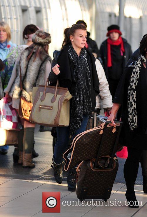 Coleen Rooney arriving back in Liverpool after attending...