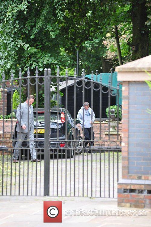 Family members of Coleen Rooney, outside their house....