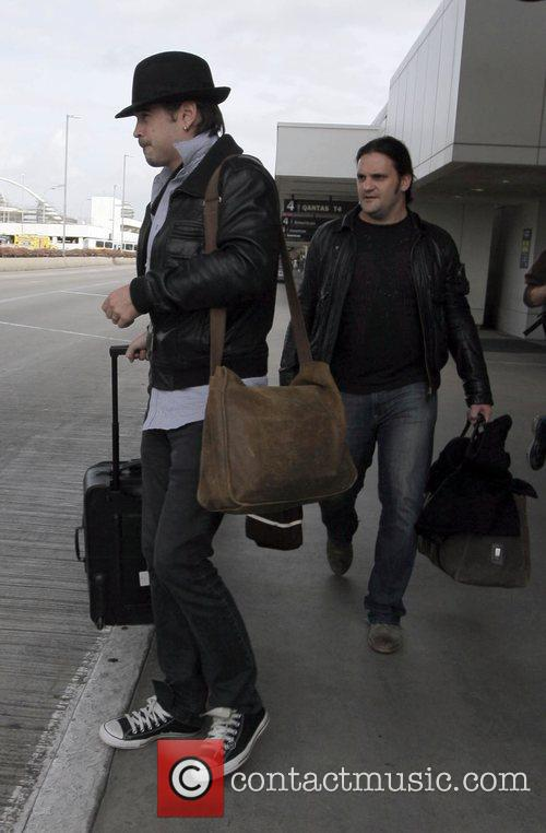 Actor Colin Farrell arrives to LAX airport after...