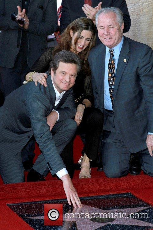 Colin Firth  is honored with the 2,429th...
