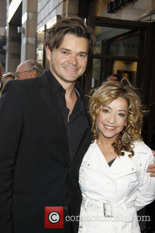 Hunter Foster and Jenn Cody Opening night of...