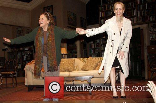 Linda Lavin and Sarah Paulson  on stage...