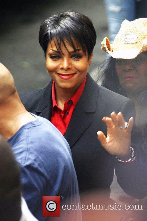 Janet Jackson on the set of 'For Colored...