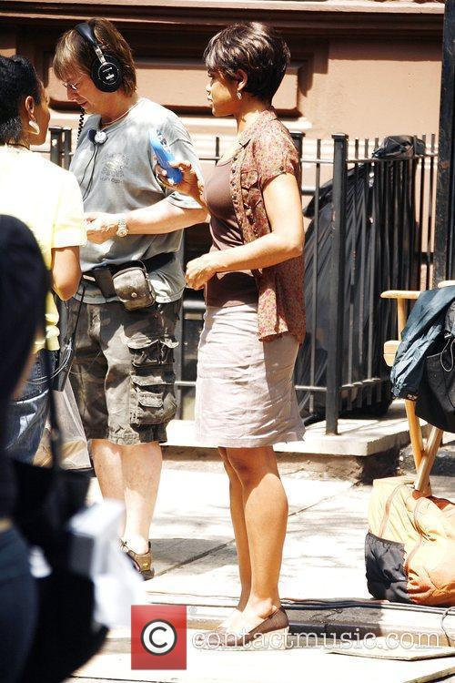 Kimberly Elise on the set of 'For Colored...