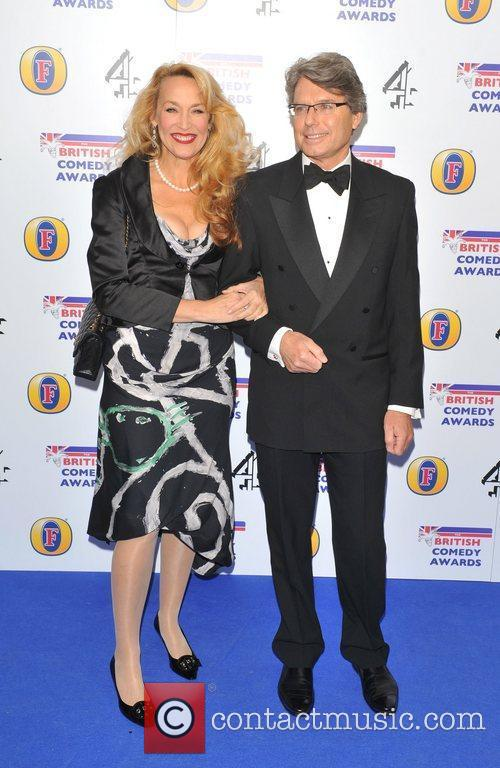 Jerry Hall and guest British Comedy Awards 2010...