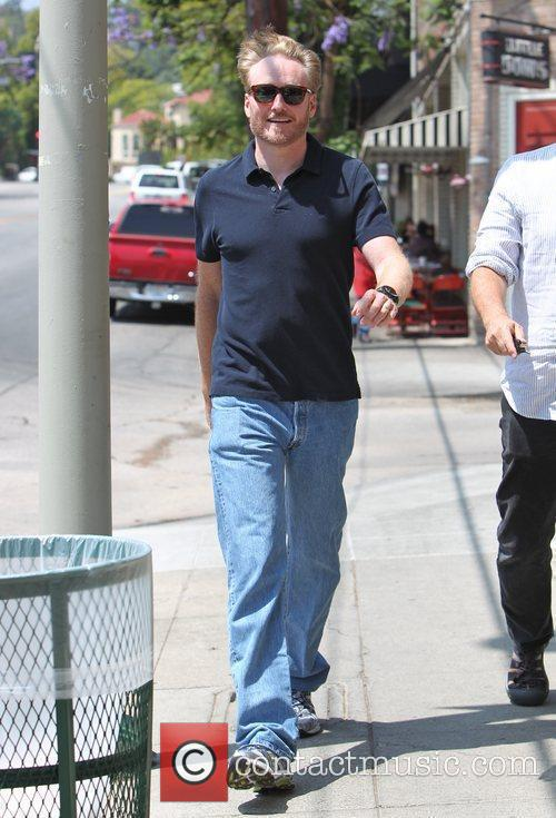 Conan O'Brien appears to be in a good...