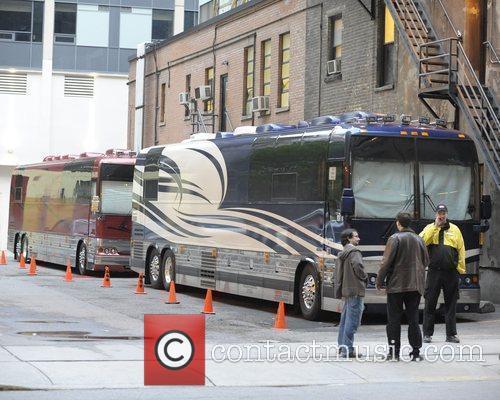 Tour bus of Conan O'Brien and cast...