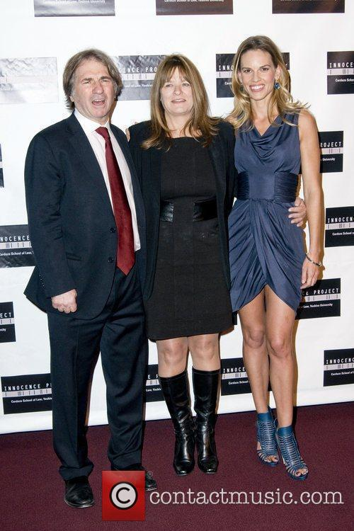Barry Scheck, Betty Anne Waters and Hilary Swank...