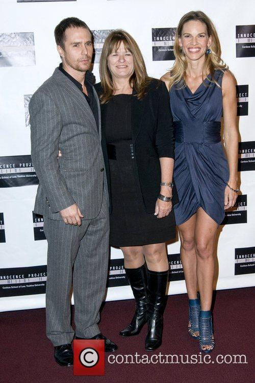 Sam Rockwell, Betty Anne Waters and Hilary Swank...