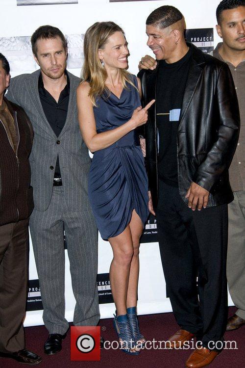 Sam Rockwell, Hilary Swank and Dewey Bozella Screening...