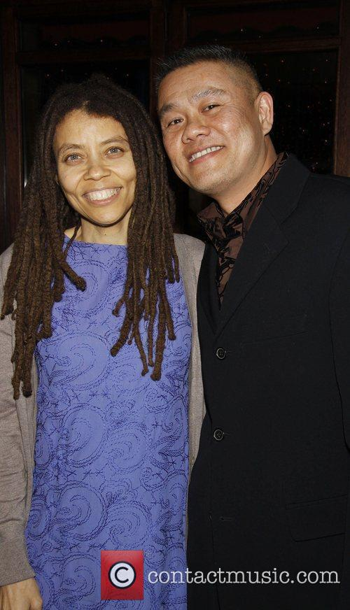 Kia Corthron and Chay Yew attending the opening...