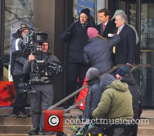 Bradley Cooper and Robert DeNiro filming a scene...