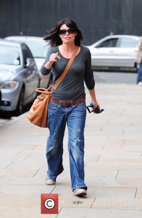 Alison King arrives at Granada studios to film...