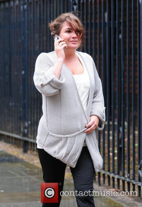 Debbie Rush arrives at Granada studios to film...