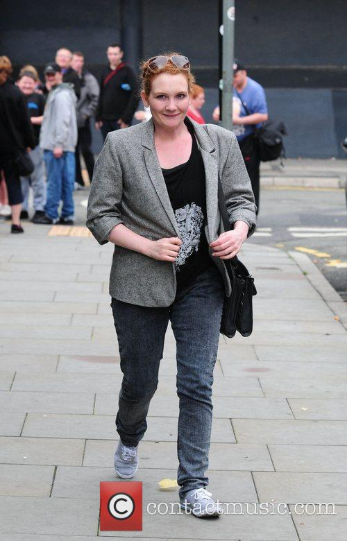 Jenny McAlpine arrives at Granada studios to film...
