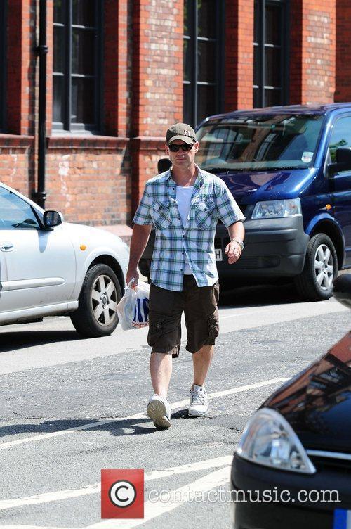 Robert Beck  'Coronation Street' cast members arriving...