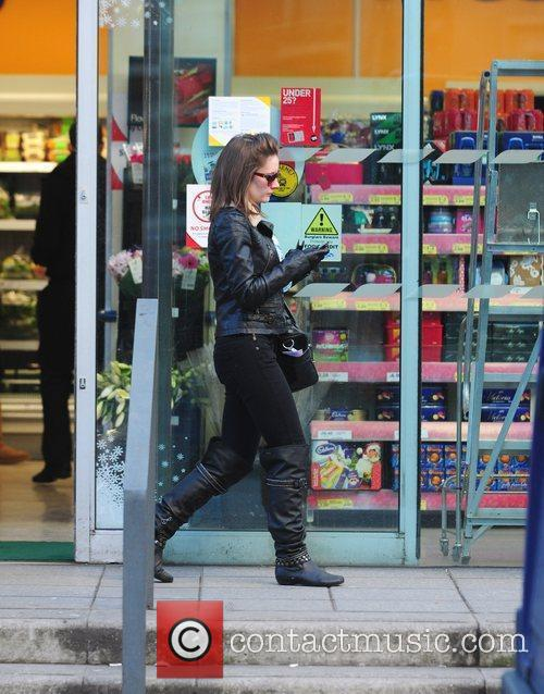 Is seen shopping in Manchester wearing a stylish...