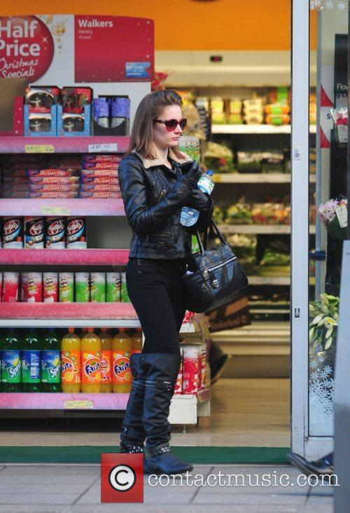 Paula Lane  is seen shopping in Manchester...