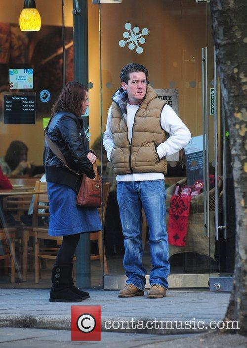 Vicky Entwistle and her husband are seen leaving...