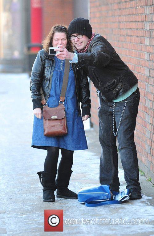 Vicky Entwistle Celebrities head for Granada Studios for...