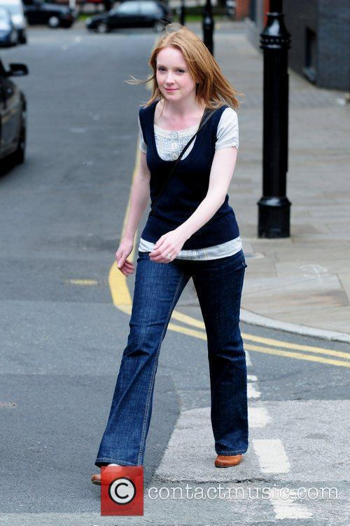 'Coronation Street' cast members arriving at Granada Studios