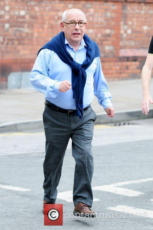 Malcolm Hebden 'Coronation Street' cast members arriving at...