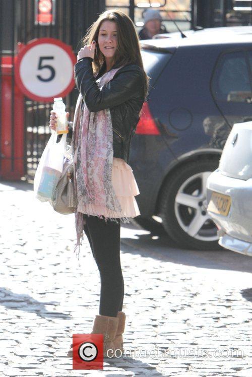 Brooke Vincent arriving at the Coronation Street studios