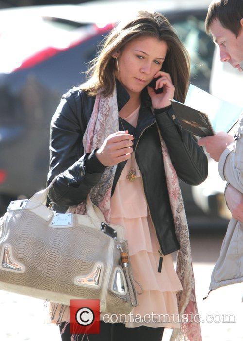 Brooke Vincent arriving at the Coronation Street studios...