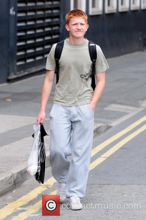 Sam Aston 'Coronation Street' cast members arriving at...