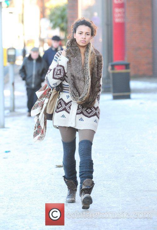 Holly Quin-Ankrah Celebrities head for Granada Studios for...