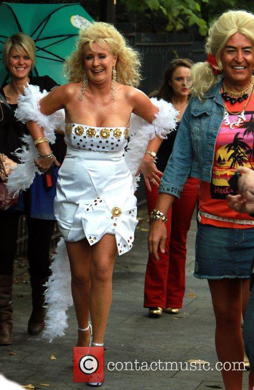 Beverley Callard The cast of 'Coronation Street' dress...