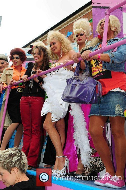 Beverley Callard Manchester's Gay Pride parade Manchester, England