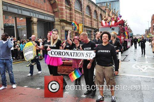 'Coronation Street' stars in the parade Manchester's Gay...