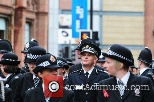 Greater Manchester Police Constable Peter Fahy marches Manchester's...