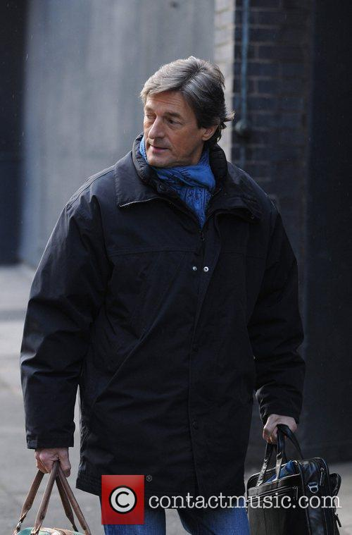 Nigel Havers  leaves the set of the...